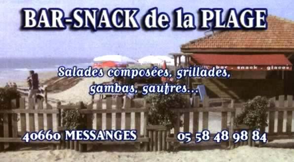 Snack de la plage - Messanges